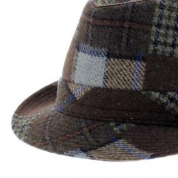 chapeau trilby patchwork