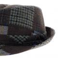 chapeau homme trilby patchwork - boutique de chapeau
