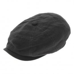 Casquette hatteras lin noir - Stetson