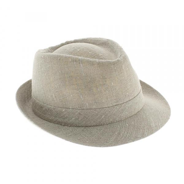 Chapeau trilby lin naturel