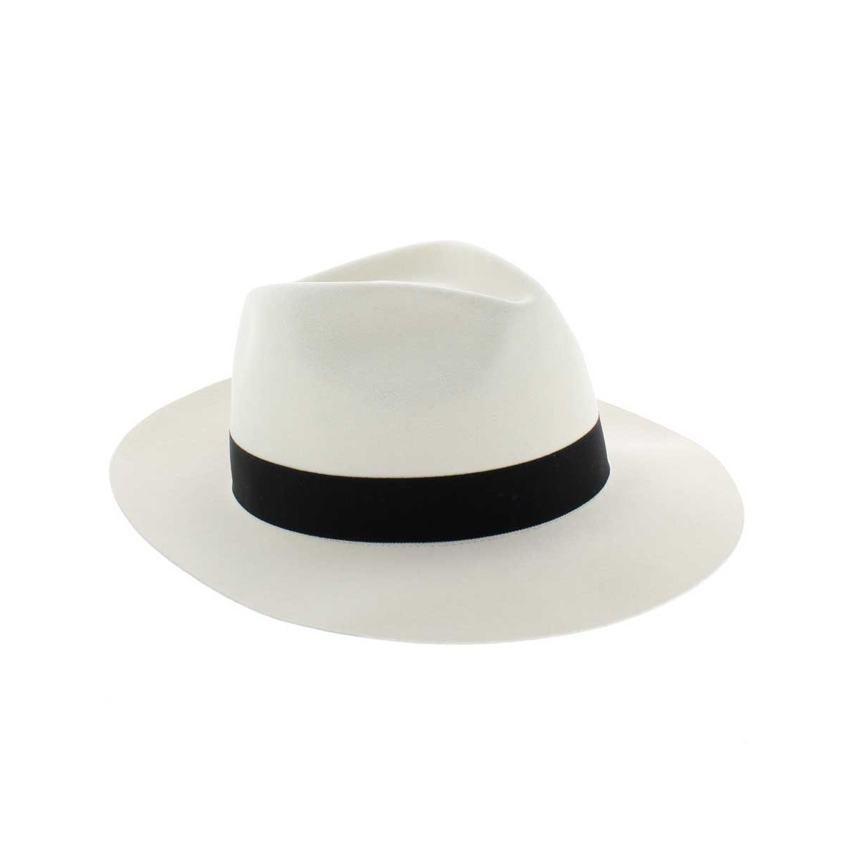 Chapeau Fedora Borsalino Blanc