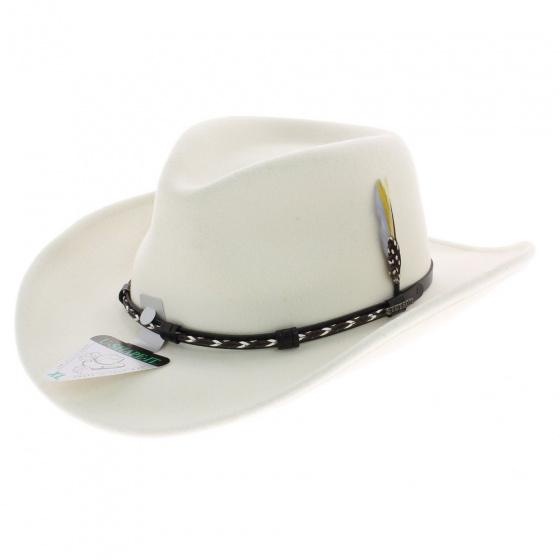 chapeau Stetston AMASA blanc