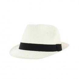 Chapeau trilby blanc paille enfant