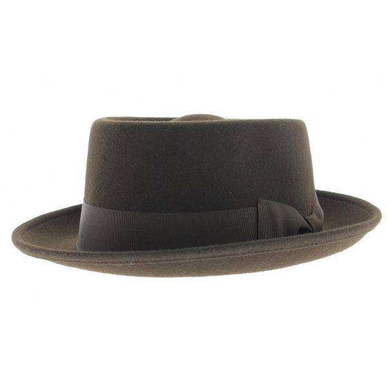 Chapeau porkpie marron