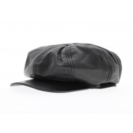 Casquette cuir montagny Noir