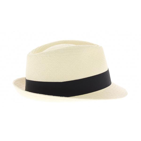 Chapeau panama forme Elkader ruban noir