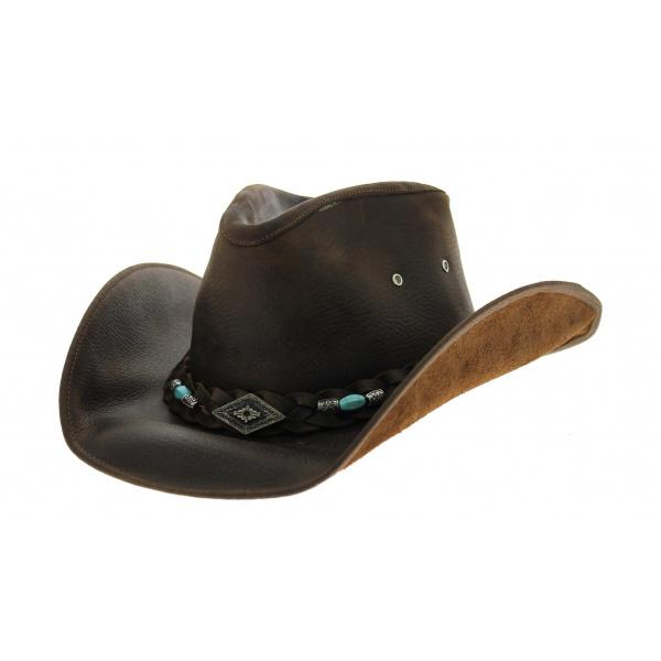 Chapeau rodéo cuir Bullhide