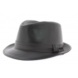 Leather trilby