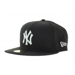 New York Yankees Black on White Cap 59FIFTY