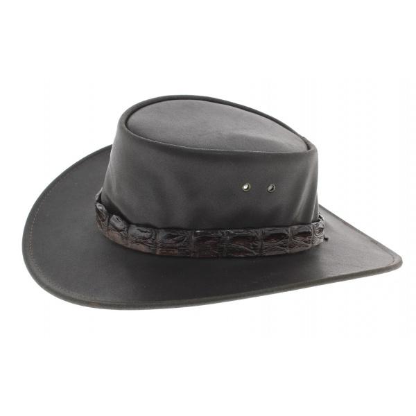 chapeau eureka cuir buffle marron jacaru. Black Bedroom Furniture Sets. Home Design Ideas