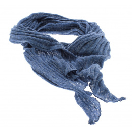 Echarpe fantaisie bleu