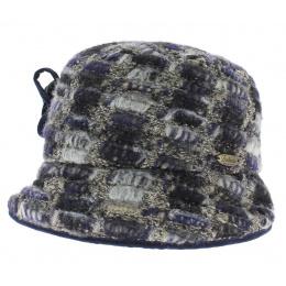 Chapeau Cloche Années 20 Laine Bleu - Traclet