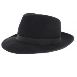 Chapeau Fedora Feutre Laine Noir- Traclet