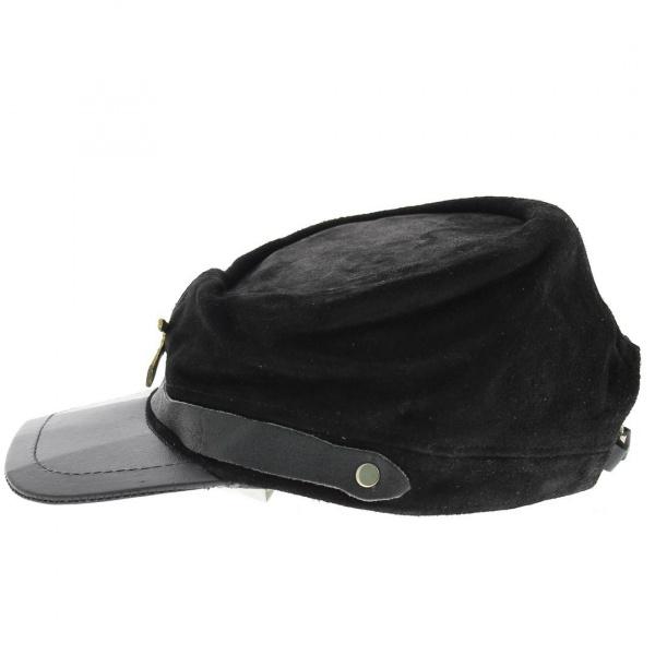 Casquette nordiste cuir noir