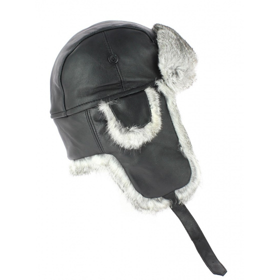 Chapka Harbor Leather & Black Fur