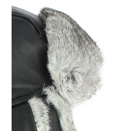 Chapka Harbor Leather & Black Fur