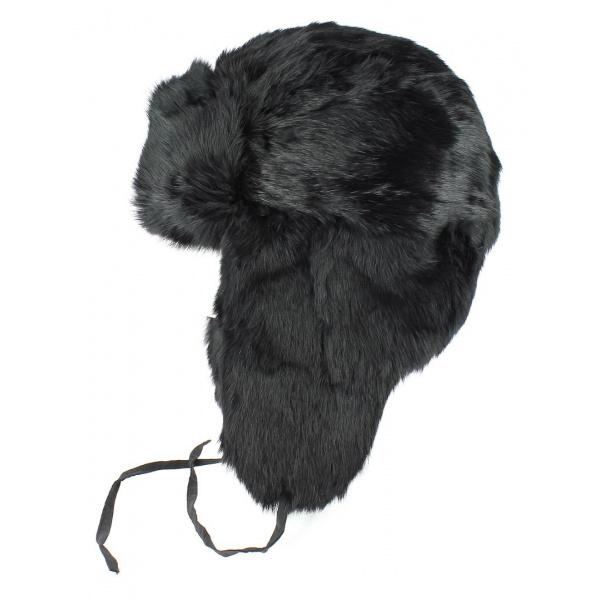 Chapka - Ushanka lapin noir