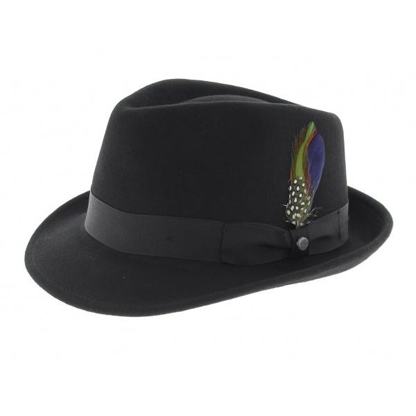 Elkader Trilby Hat Black Stetson par Stetson aa3228bfa88