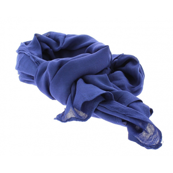 Chèche bleu unie