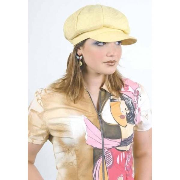 Linen and cotton gavroche cap