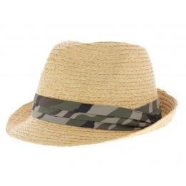 Chapeau trilby camouflage