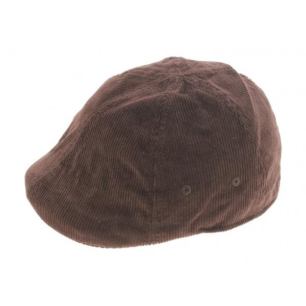 Brown velvet cap