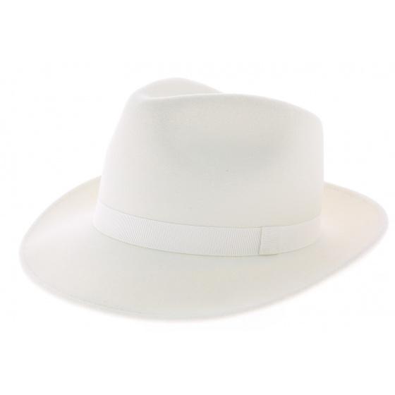 White fedora hat