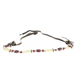Hatband - Red pearl hat trim