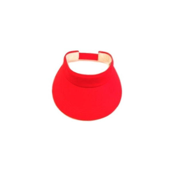 Visor Cap Cotton Red