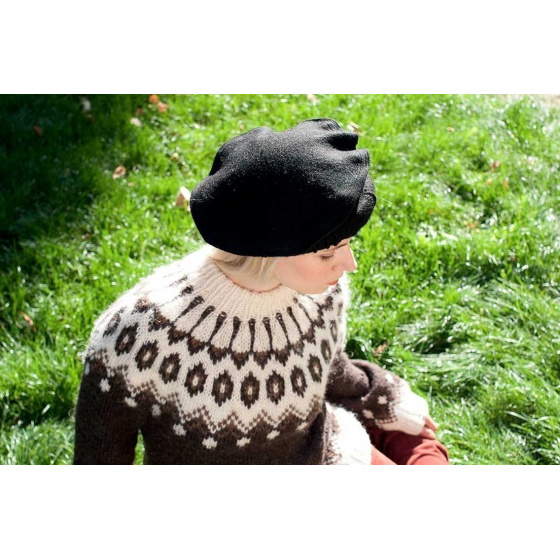 chapeau afghan pakol noir