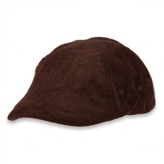 Brown velvet cap
