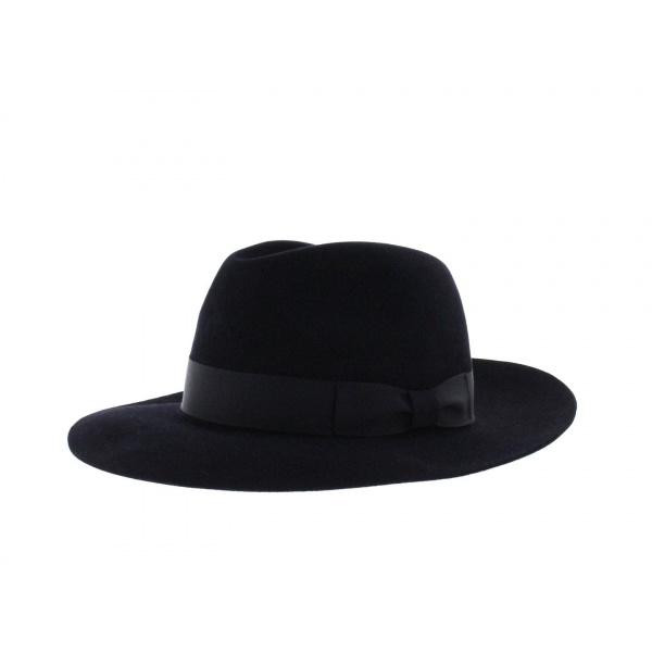 Chapeau Bogarte feutre poil marine