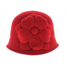 Chapeau cloche rouge Manon