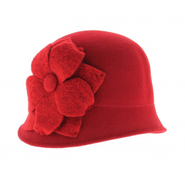 Chapeau cloche rouge Manon
