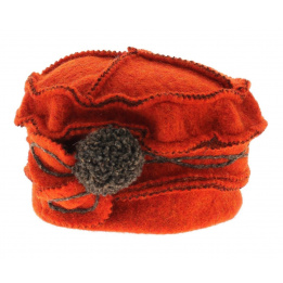 Bonnet toque Adeline - orange