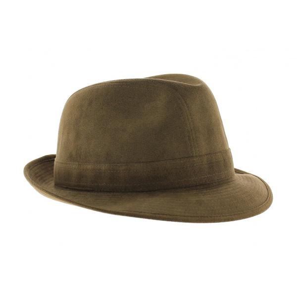 Trilby hat - Hazelnut Alcantara