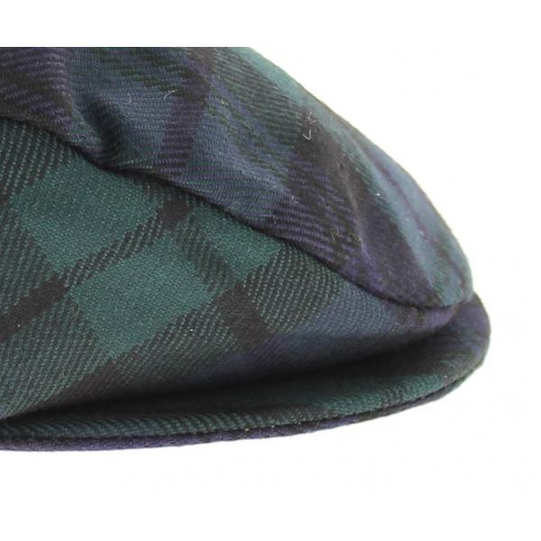 Casquette tartan vert bleu limerick
