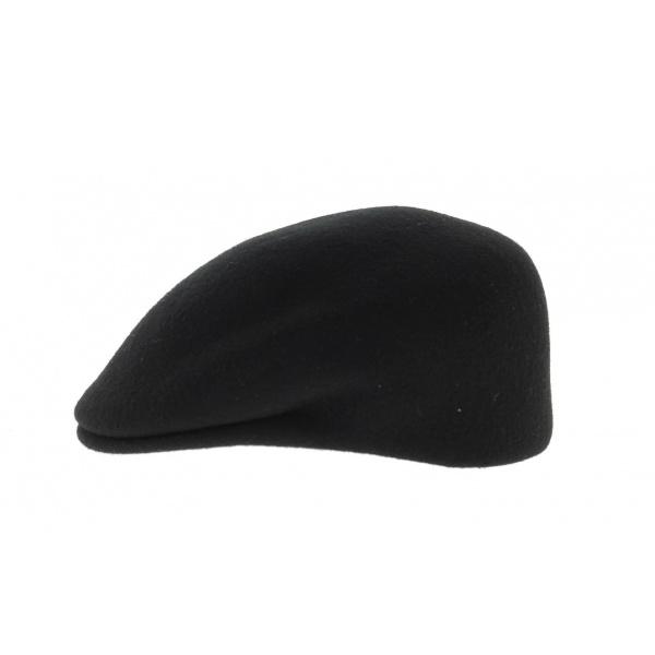 casquette Bombée Feutre Laine Noir - Traclet