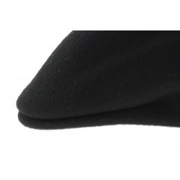 black Wool Felt Camelback Cap - Traclet