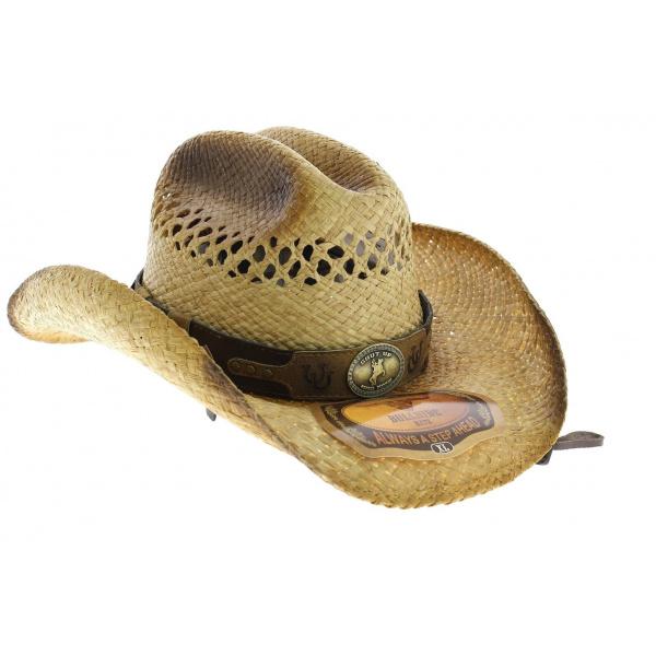 f1c2ec1b73ada Bullhide Gunfighter s Collection Raffia Wild Bill par Montcarlo hat -  Bullhide