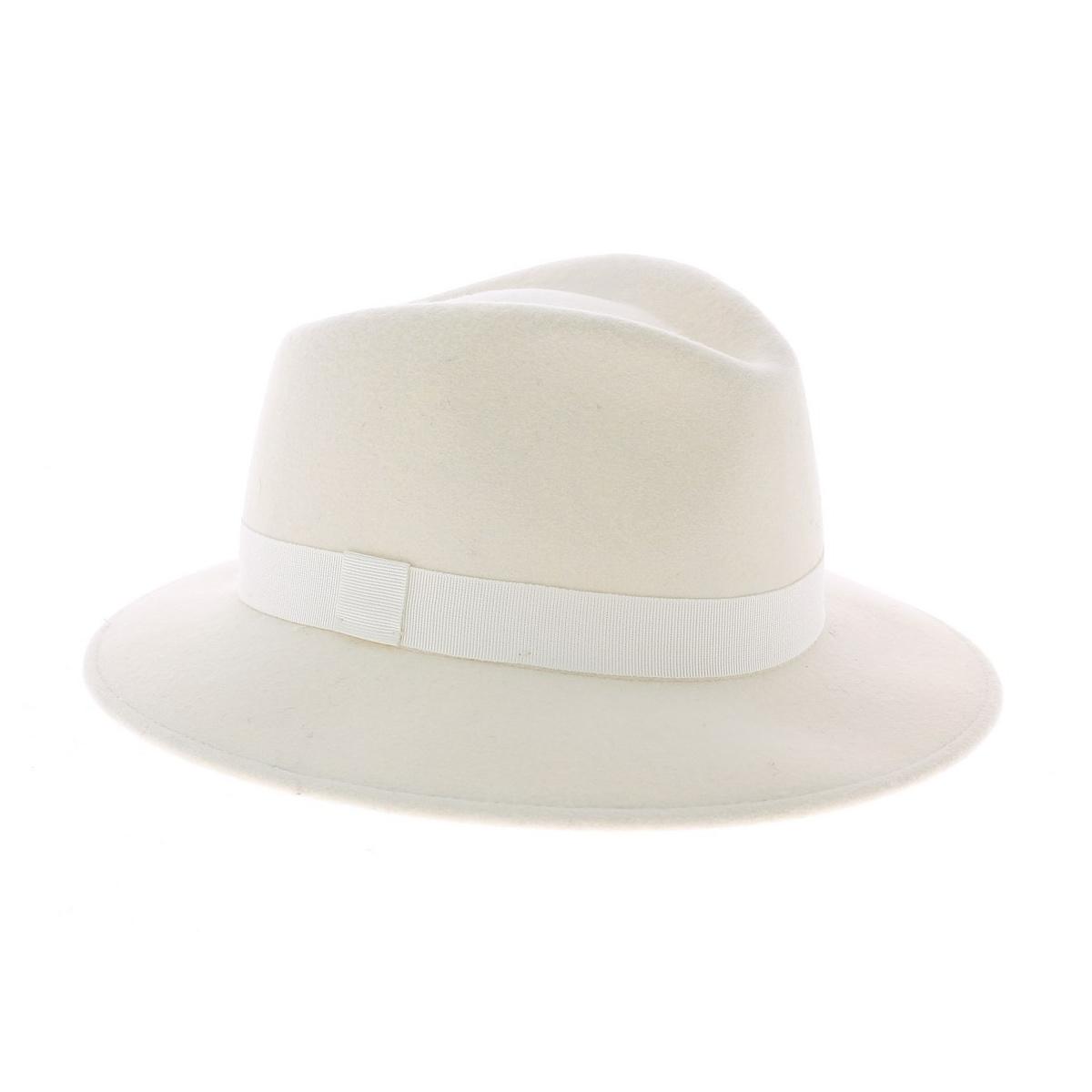 Chapeau Feutre Laine Blanc Chapeau Francais