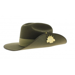 Chapeau feutre poil Akubra - Military