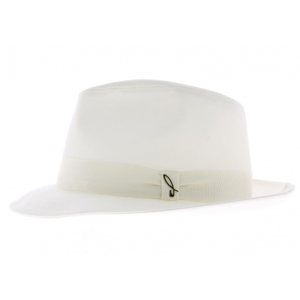 Chapeau fedora blanc - Doria