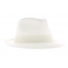 Chapeau Fedora Blanc Coton- Doria
