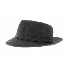 Chapeau fedora coton noir