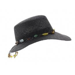 Giuditta - Black straw cap