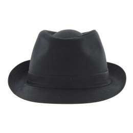 Black Cotton Trilby Hat