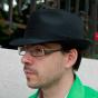 Black Cotton Trilby Hat