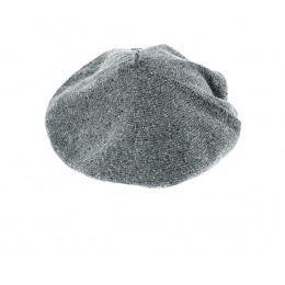 Silk, Cotton & Linen Grey Summer Beret- Le Béret Français