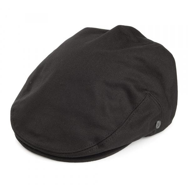 Casquette Plate coton Noire jaxon